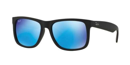 BLACK RUBBER / GREEN MIRROR BLUE lenses