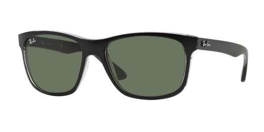 TOP MATTE BLACK ON TRASP / GREEN lenses