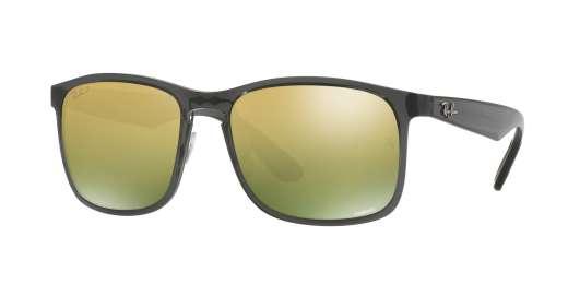 SHINY GREY / GREEN POLAR MIRROR GOLD lenses