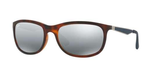 SHINY RED HAVANA / MIRROR GRADIENT GREY lenses