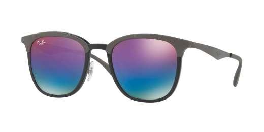 BLACK/MATTE GREY / GREEN MIRROR BLUE GRAD VIOLET lenses