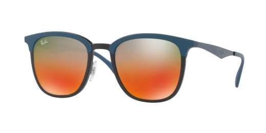 BLACK/MATTE BLUE / LIGHT BROWN MIRROR RED GRAD lenses