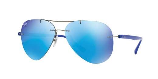 GUNMETAL / FLASH BLUE lenses