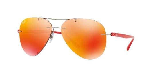 SHINY GREY / ORANGE FLASH lenses