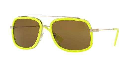 PALE GOLD/FLUO YELLOW / BROWN lenses