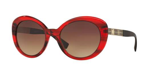 TRANSPARENTE STRIPED RED / BROWN GRADIENT lenses