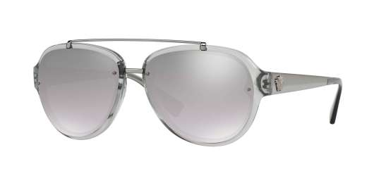 TRANSPARENT GREY / LIGHT GREY MIRROR GRAD SILVER lenses