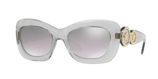 TRANSPARENT GREY / LIGHT GREY MIRROR GRAD SILVER lenses
