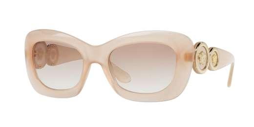 OPAL POWDER / CLEAR GRADIENT BROWN lenses