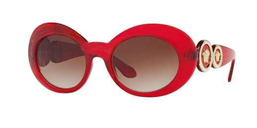 TRANSPERNTE RED / BROWN GRADIENT lenses