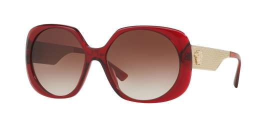 TRANSPARENT RED / BROWN GRADIENT lenses