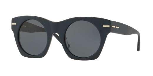 MATTE DARK BLUE / BLUE GREY SOLID lenses