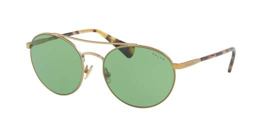 SATIN GOLD/SPOTTY TORTOI / DARK GREEN SOLID lenses