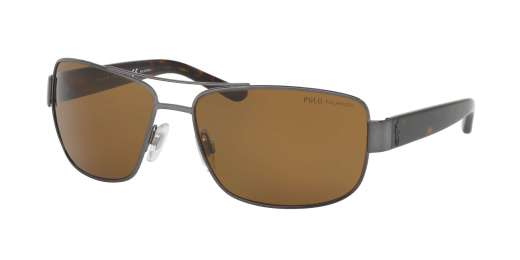 BRUSHED DARK GUNMETAL / POLAR BROWN lenses