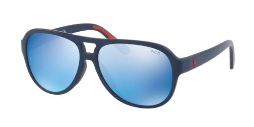 MATTE NAVY BLUE RED RUBB / MIRROR BLUE lenses