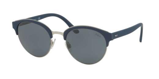 MATTE SILVER / GREY BLUE lenses