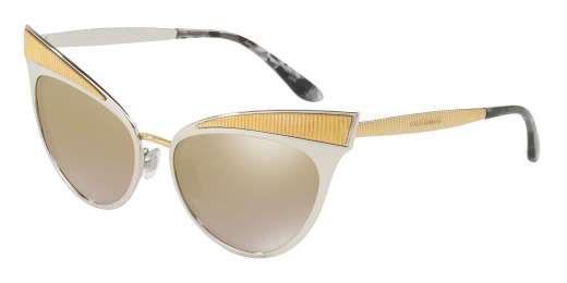 SILVER / LIGHT BROWN MIRROR GOLD lenses