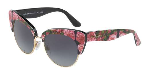 PRINT ROSE ON BLACK / GREY GRADIENT lenses