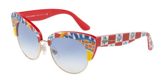 PRINT MAMBO ON RED / BLUE GRADIENT lenses