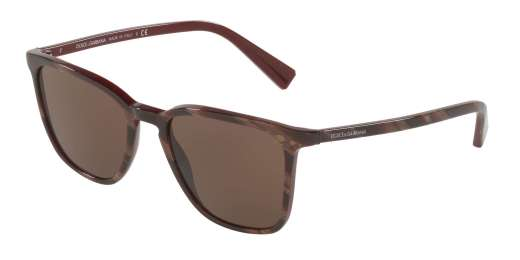 STRIPED RED ON BORDEAUX / BROWN lenses