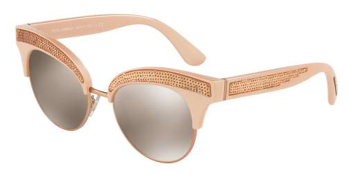 PEARL PINK/MATTE PINK GO / LIGHT BROWN MIRROR GOLD lenses
