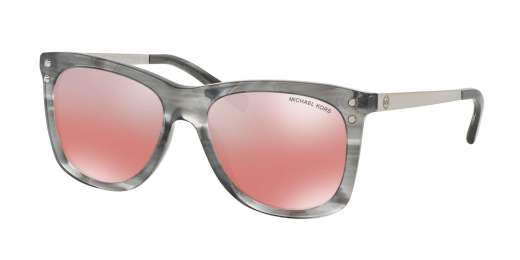 GREY FLORAL / RED SILVER FLASH lenses