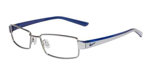 (054) Brushed Chrome/Trans Blue (054)