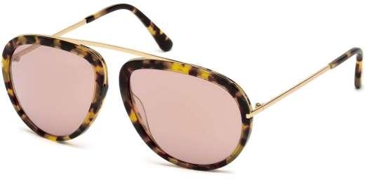 Blonde Havana / Gradient Violet lenses