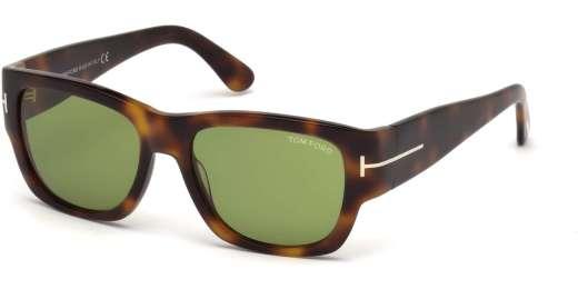 Dark Havana / Green lenses