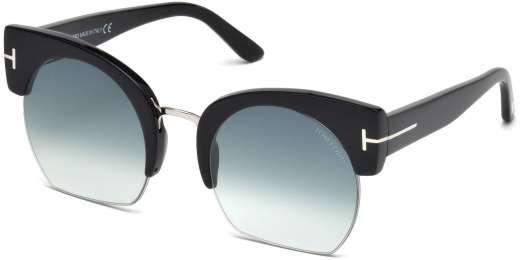 Shiny Black / Gradient Blue lenses