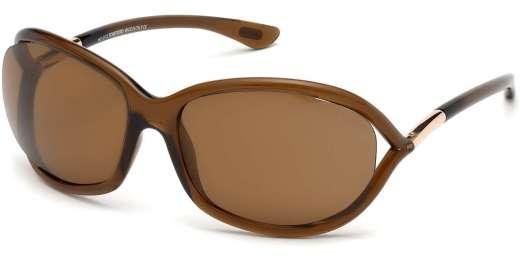 Shiny Dark Brown / Brown Polarized lenses