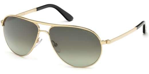 Shiny Rose Gold / Gradient Green lenses