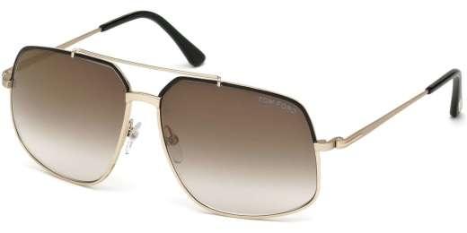 Shiny Black / Brown Mirror lenses