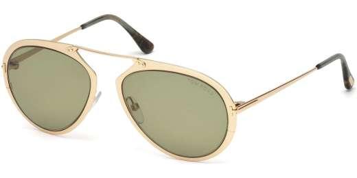 Shiny Rose Gold / Green lenses