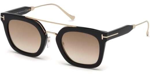 Shiny Black / Gradient Brown lenses