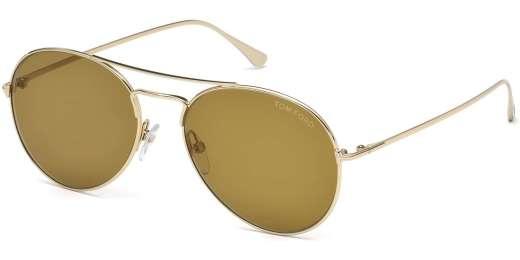 Shiny Rose Gold / Brown lenses