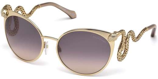 Shiny Rose Gold / Brown Gradient lenses