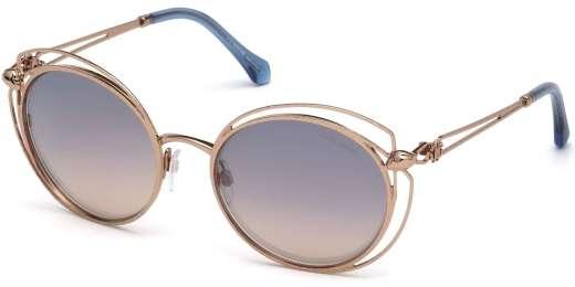 Shiny Light Bronze / Blue Mirror lenses