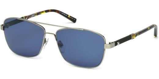 Shiny Gunmetal / Blue lenses