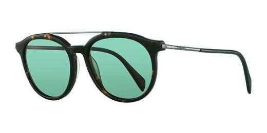 Blonde Havana / Green lenses