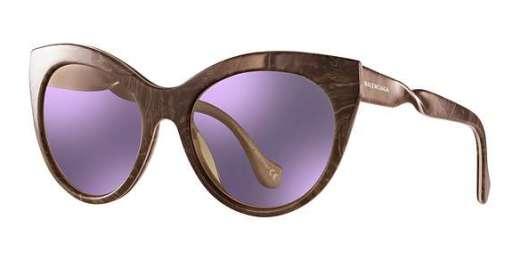 Brown/Horn / Violet Mirror lenses
