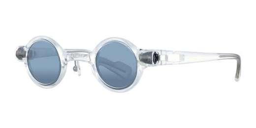 Clear frame / Grey tint/sliver flash mirror lens (CL)