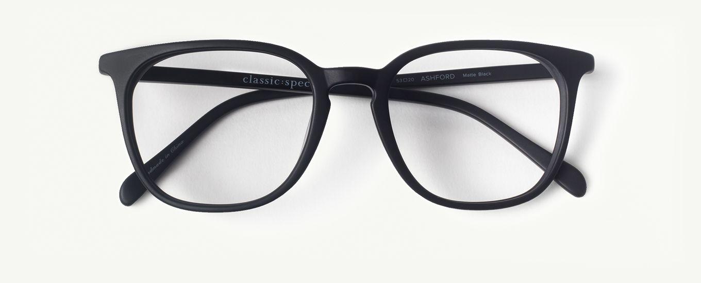 ac4e7bda78cb Ashford in Matte Black - Classic Specs