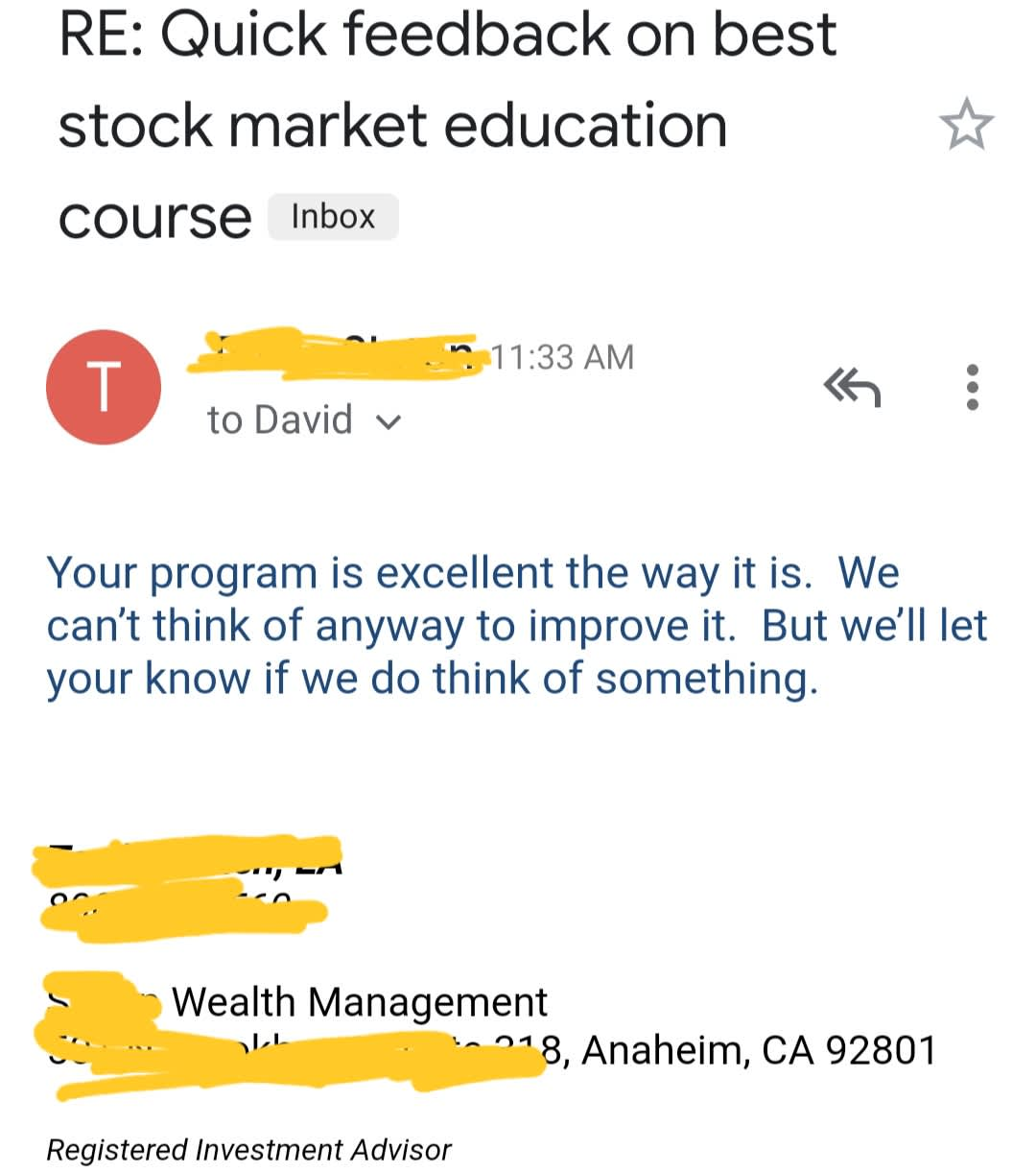 BestStockStrategy Testimonials