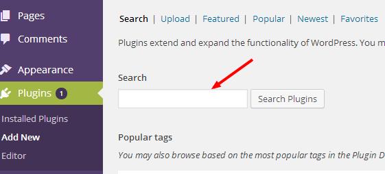 instal wordpress plugin