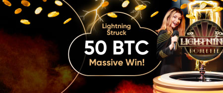 Cloudbet Casino Big Winner Gets Nearly 50 BTC In One Bitcoin Lightning Roulette Spin