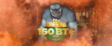 216 BTC big winner at Cloudbet bitcoin slots