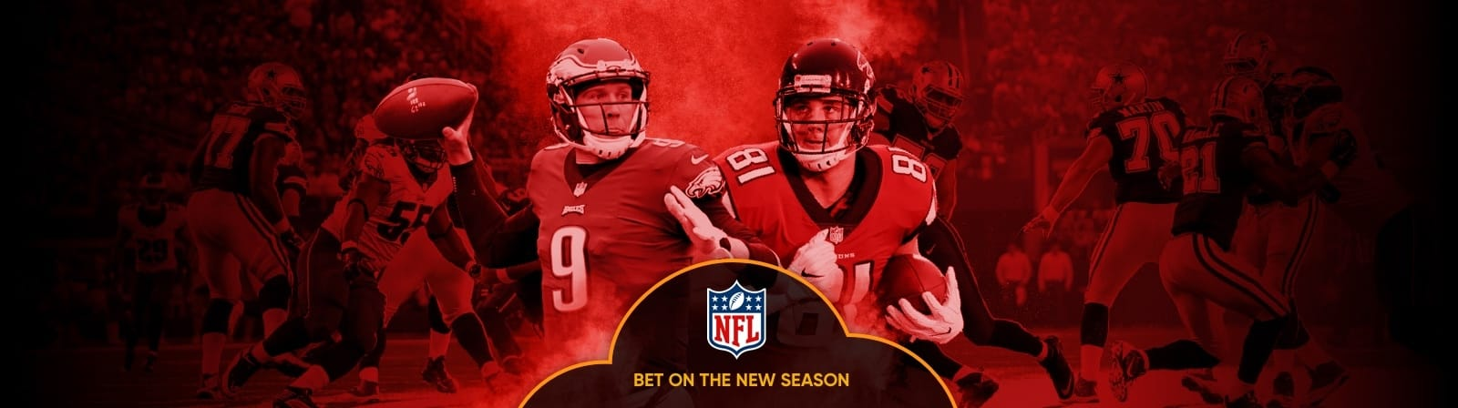 NFL Props - Bet on over 30 player prop markets on every NFL game this season!