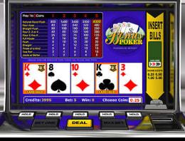 Play Bonus Poker in our Bitcoin Casino