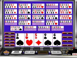 Play Multi-hand All American Poker in our Bitcoin Casino